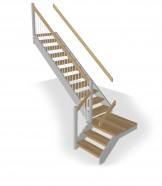 L-trappa med vilplan vänster